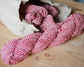 Jumbo Old Vintage Thick Red White Twine No Spool