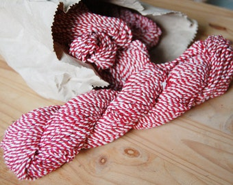 Jumbo Old Vintage Thick Red White Twine