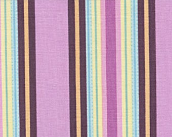Cotton Quilting Fabric | Amy Butler fabric | Temple Flowers Stripe Pink