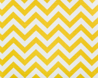 "Zig Zag Corn Yellow Chevron Slub fabric | Premier Prints 54"" width 
