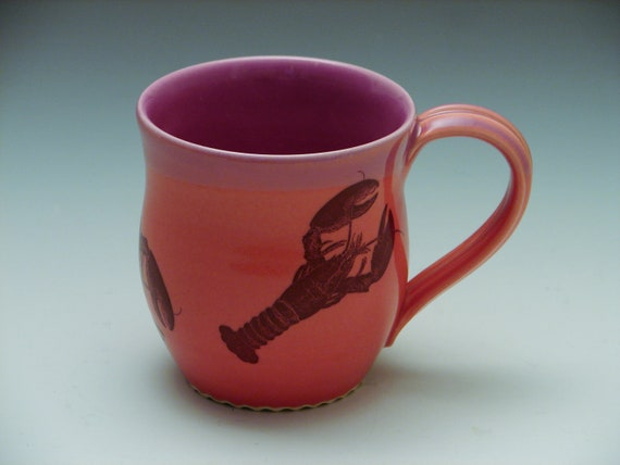 Lobster Mug / Red Pottery