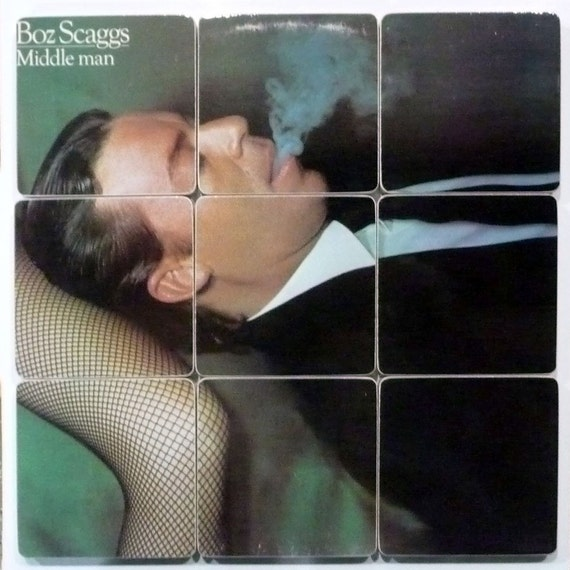 "BOZ SCAGGS - Upcycled ""Middle Man"" album cover coasters"
