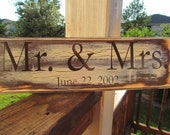 Mr Mrs, Wedding Reception Custom Wooden Sign for Weddings Can be Customized and More(5x18)