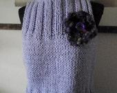 Lilac Sleeveless Oversized  Sweater