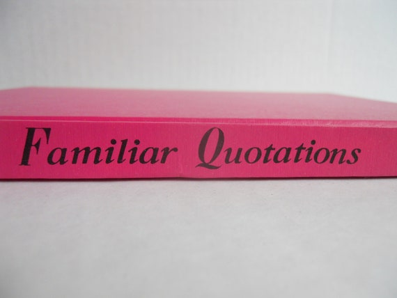Familiar Quotations Rare Hot Pink Vintage Book
