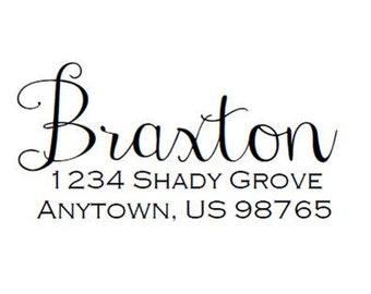 Self Inking Address Stamp - Style: Braxton
