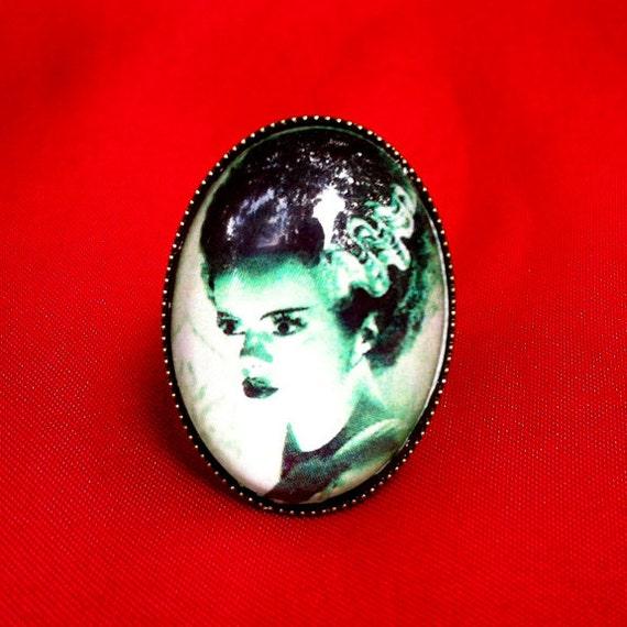 Bride of Frankenstein Ring - Green