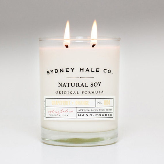 soy candle - GRAPEFRUIT and ORANGE