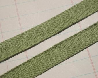 "Twill Tape Trim OLIVE GREEN - Cotton Sewing Craft Twill - 1/2"" - 6 Yards"
