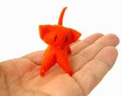 Miniature Orange Cat ,Cat plush, Kitten, softie handmade
