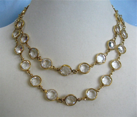 Bezel Set Crystal Necklace