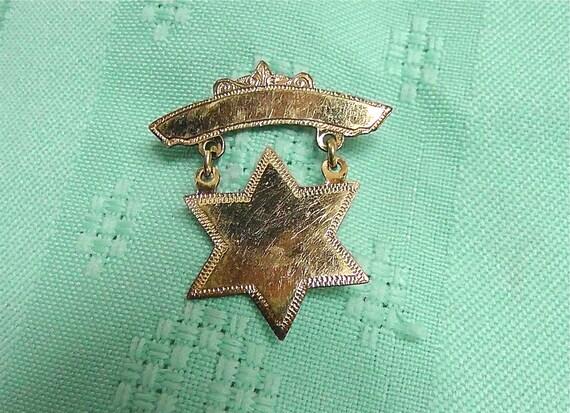 Vintage Star of David Pin