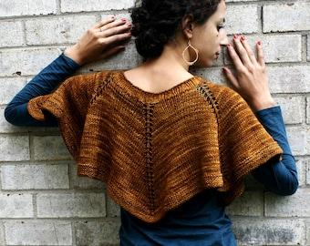 Hand Knitting Pattern- Capelet Duet