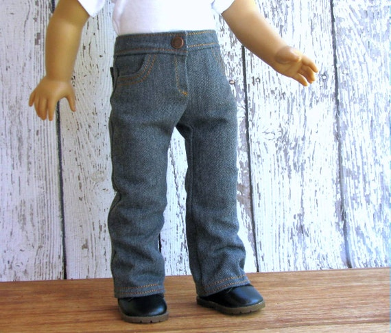 Bootcut Four Pocket Jeans  - American Girl Doll Clothes