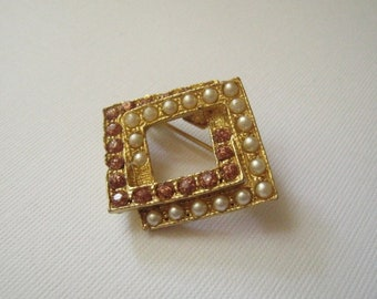Vintage Double Square Brooch