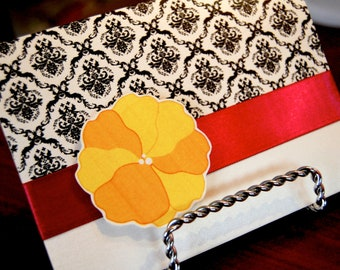 Flower damask bridal shower invitations