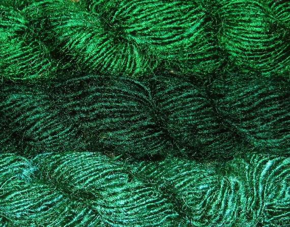 10 oz PREMIUM Recycled Sari Silk Yarn, Fair Trade Handspun, 300 yards, 295 grams