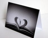 SALE - Heart is an Open Book - Blank 4x6 Photo NoteCard