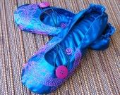 Pink and Blue dragon Shoo-shis  Ballet Flats