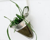 Vintage Planter - Repurposed Strainer