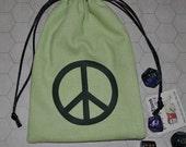 Peace dice tarot bag