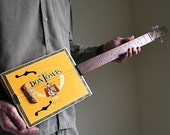 Cigar Box Guitar No. 54 Don Tomas Acoustic & Electric Combination 3 String Guitar