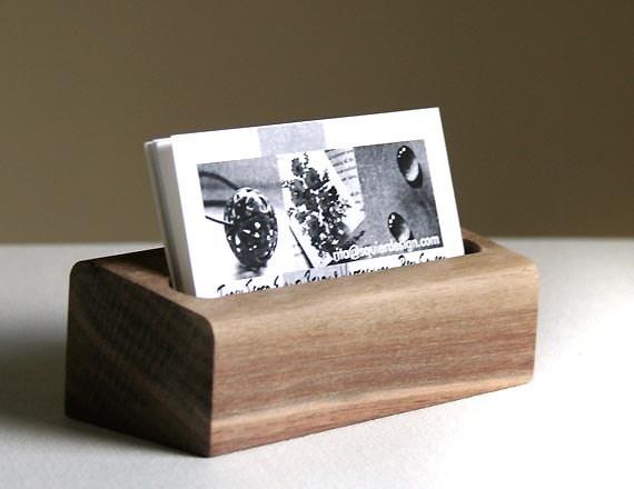 Black Walnut Business Card Holder - Ready to Ship