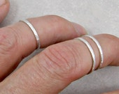 Knuckle Ring Fine Silver Set of Three 16G Gifts for Her