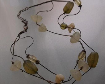 Vintage 40s Quartz Glass necklace used in a movie