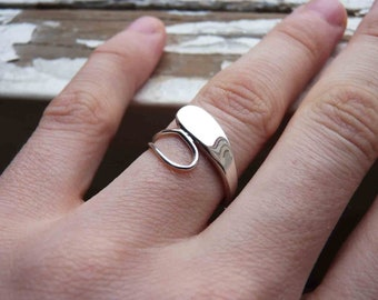 Drops Ring, Smooth Ring in Sterling silver, Made to order in your size, Polished or Matte