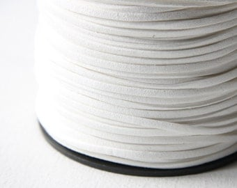 5 meters of Faux Suede - White 2.5mm