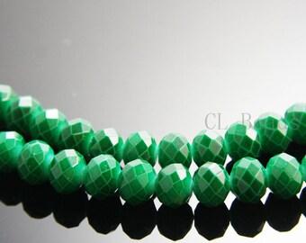 22pcs Donut Neon Crystal - Emerald 10x8mm (705)