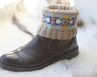 Fair Isle Boot Cuffs - KNITTING PATTERN