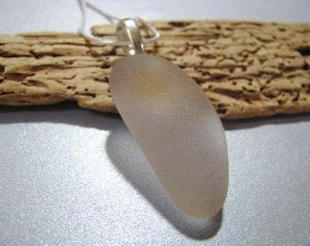 Amethyst Sea Glass - Sea Glass Pendant - Beach Glass Pendant - Beach Glass Jewelry