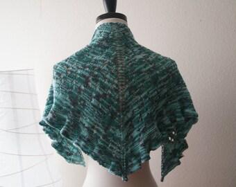 Knitting Pattern PDF / Water Dragon One Skein Shawl
