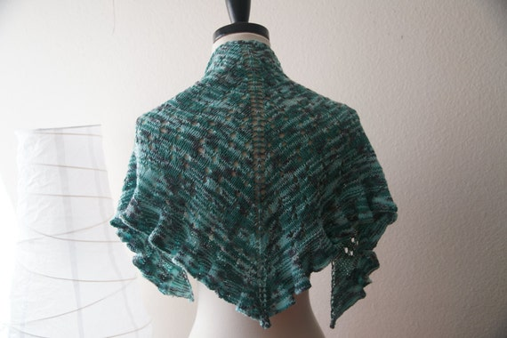 One Skein Knit Patterns : Items similar to Knitting Pattern PDF / Water Dragon One Skein Shawl on Etsy