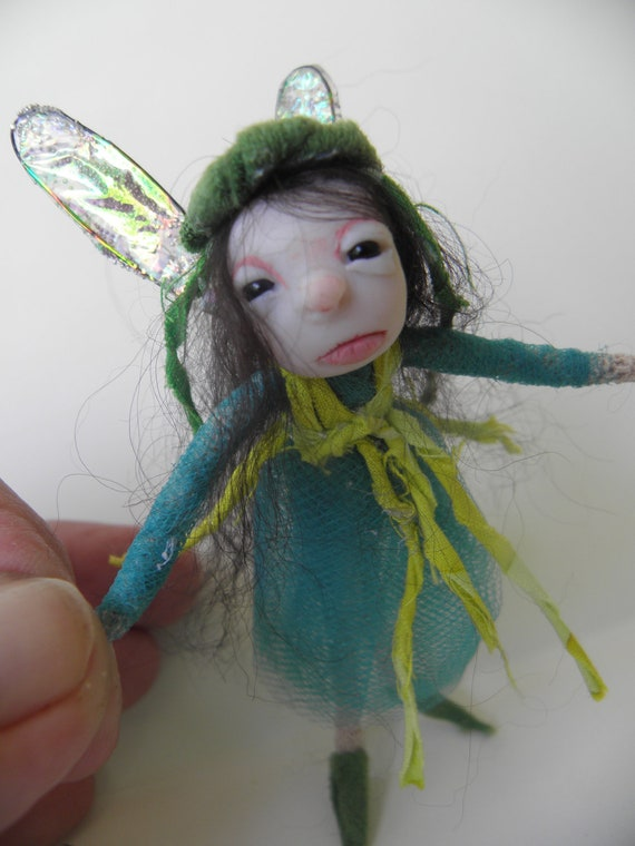 tiny OOAK pose-able fairy ART DOLL by DinkyDarlings ( 03 )
