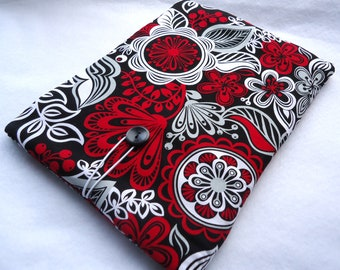 SALE Ipad cover, Ipad case, Ipad sleeve, Designer padded I PAD case, Protect your electronics with this stylish case - Retro floral