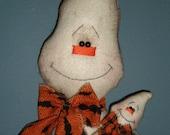 Ready to ship Handmade Raggedy Ghost Door Doll with baby HALLOWEEN