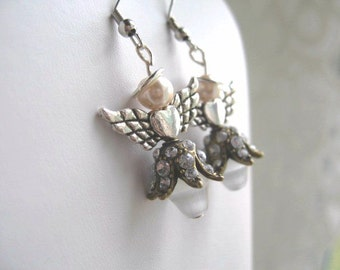 Angels From The Wild Side  ... dangling Christmas earrings ... we all have a wild side... #219