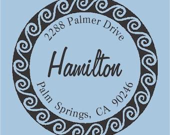 Hamilton Custom Self Inking Rubber Stamp R400-005