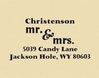 Mr. & Mrs. Christenson Custom Rubber Stamp Design R006