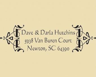 Dave & Darla Hutchins Custom Address Stamp Design R002