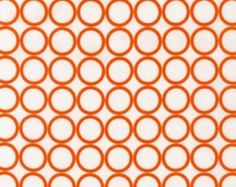 Fat Quarter - Metro Living Circle Print in Carrot by Robert Kaufman Fabrics EIP-11016-151 CARROT