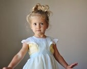 1940s Sky blue Organza pinafore, size 12-24 months