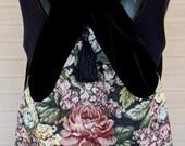 Backpack Floral Tapestry  Black Velvet Boho  Victorian Backpack Piperscrossing