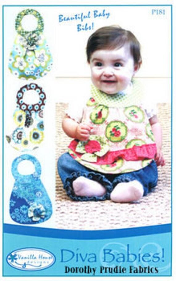 PATTERN DIVA BABIES Deluxe Baby Girl Bibs 4 styles