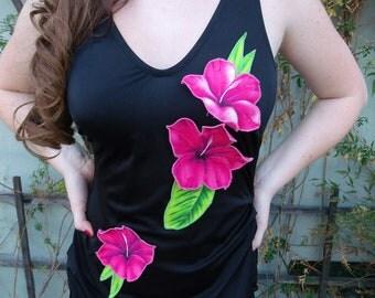 Vintage Black Pin Up Swim Suit 50's Black Hot Pink Bathing Suit Mad Men VLV Rockabilly