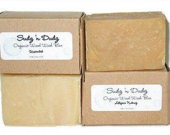 "Organic Wool Wash Bar ""Eucalyptus Spearment"" 5oz."