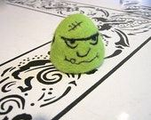 One GumDrop Green Needle Felted Frankenstein Monster Hulk Soap